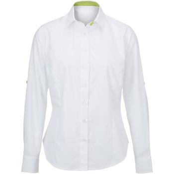 vaatteet Naiset Paitapusero / Kauluspaita Alexandra AX060 White/ Lime