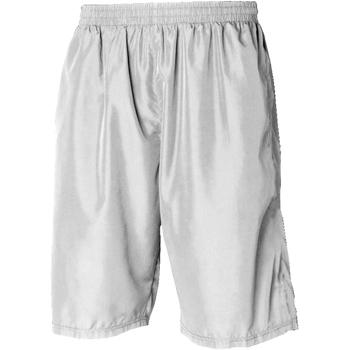 vaatteet Miehet Shortsit / Bermuda-shortsit Tombo Teamsport Longline White / White