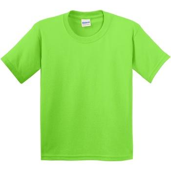 vaatteet Lapset Lyhythihainen t-paita Gildan 5000B Lime