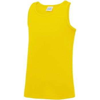 vaatteet Lapset Hihattomat paidat / Hihattomat t-paidat Awdis JC07J Sun Yellow