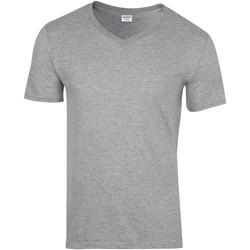 vaatteet Miehet Lyhythihainen t-paita Gildan 64V00 Sport Grey (RS)