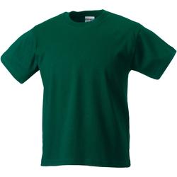 vaatteet Lapset Lyhythihainen t-paita Jerzees Schoolgear ZT180B Bottle Green