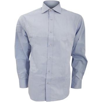 vaatteet Miehet Pitkähihainen paitapusero Kustom Kit KK118 Light Blue