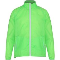 vaatteet Miehet Tuulitakit 2786  Lime/ White