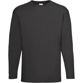 vaatteet Miehet T-paidat pitkillä hihoilla Universal Textiles 61038 Jet Black