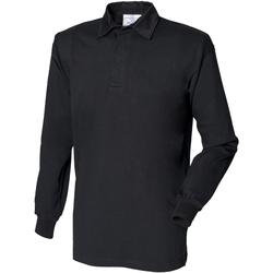 vaatteet Miehet Pitkähihainen poolopaita Front Row FR100 Black/Black