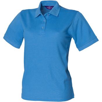 vaatteet Naiset Lyhythihainen poolopaita Henbury HB401 Mid Blue