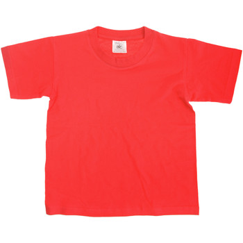 vaatteet Lapset Lyhythihainen t-paita B And C Exact Red