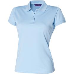 vaatteet Naiset Lyhythihainen poolopaita Henbury Coolplus Light Blue