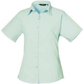 vaatteet Naiset Paitapusero / Kauluspaita Premier PR302 Aqua