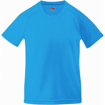 vaatteet Lapset Lyhythihainen t-paita Fruit Of The Loom 61013 Azure Blue