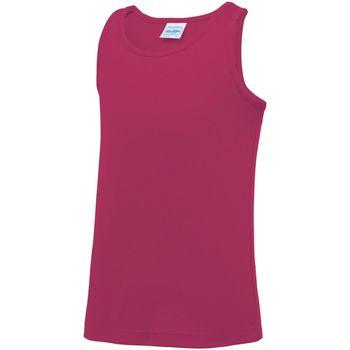 vaatteet Lapset Hihattomat paidat / Hihattomat t-paidat Awdis JC07J Hot Pink