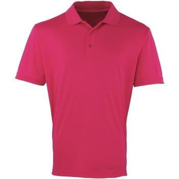 vaatteet Miehet Lyhythihainen poolopaita Premier PR615 Hot Pink