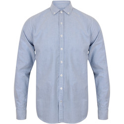 vaatteet Miehet Pitkähihainen paitapusero Front Row FR502 Light Blue