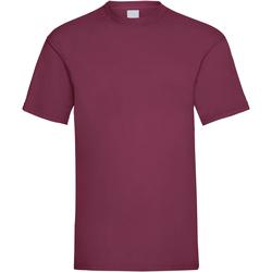 vaatteet Miehet Lyhythihainen t-paita Universal Textiles 61036 Oxblood