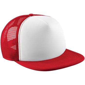 Asusteet / tarvikkeet Lapset Lippalakit Beechfield B645B Classic Red/White