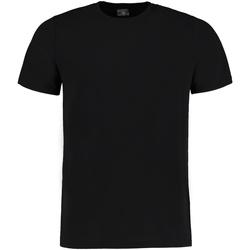 vaatteet Miehet Lyhythihainen t-paita Kustom Kit KK504 Black Melange
