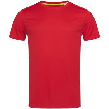 vaatteet Miehet Lyhythihainen t-paita Stedman Mesh Crimson Red