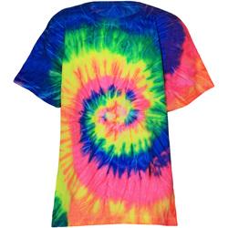 vaatteet Lapset Lyhythihainen t-paita Colortone TD02B Neon Rainbow