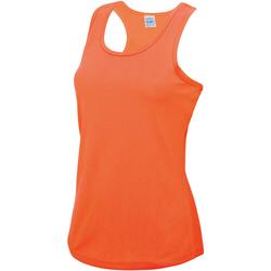 vaatteet Naiset Hihattomat paidat / Hihattomat t-paidat Awdis JC015 Electric Orange