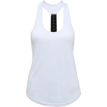 vaatteet Naiset Hihattomat paidat / Hihattomat t-paidat Tridri TR027 White