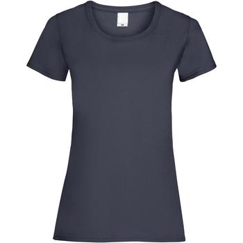 vaatteet Naiset Lyhythihainen t-paita Universal Textiles 61372 Midnight Blue
