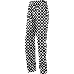 vaatteet Väljät housut / Haaremihousut Premier PR553 Black/White (Big Check)