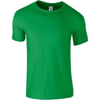 vaatteet Miehet Lyhythihainen t-paita Gildan Soft-Style Irish Green