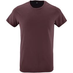 vaatteet Miehet Lyhythihainen t-paita Sols 10553 Oxblood