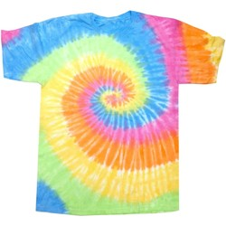 vaatteet Naiset Lyhythihainen t-paita Colortone Rainbow Eternity
