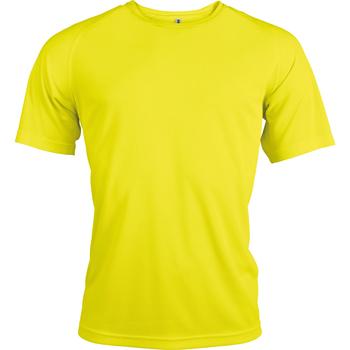 vaatteet Miehet Lyhythihainen t-paita Kariban Proact PA438 Fluorescent Yellow