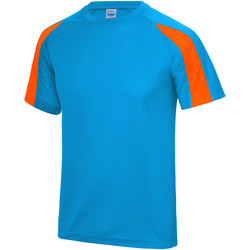 vaatteet Miehet Lyhythihainen t-paita Just Cool JC003 Sapphire Blue/ Electric Orange