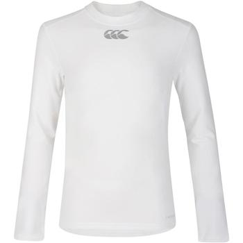 vaatteet Lapset T-paidat pitkillä hihoilla Canterbury CN360B White