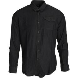 vaatteet Miehet Pitkähihainen paitapusero Premier PR222 Black Denim