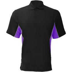 vaatteet Miehet Lyhythihainen poolopaita Gamegear KK475 Black/Purple/White