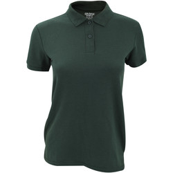 vaatteet Naiset Lyhythihainen poolopaita Gildan 75800L Forest Green