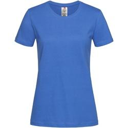 vaatteet Naiset Lyhythihainen t-paita Stedman  Bright Royal Blue