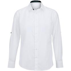 vaatteet Miehet Pitkähihainen paitapusero Alexandra Hospitality White/ Black