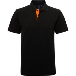 vaatteet Miehet Lyhythihainen poolopaita Asquith & Fox AQ012 Black/ Orange