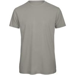 vaatteet Miehet Lyhythihainen t-paita B And C TM042 Light Grey