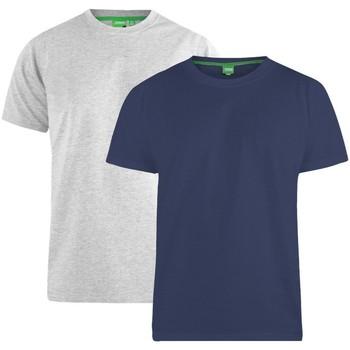 vaatteet Miehet Lyhythihainen t-paita Duke  Navy/Grey