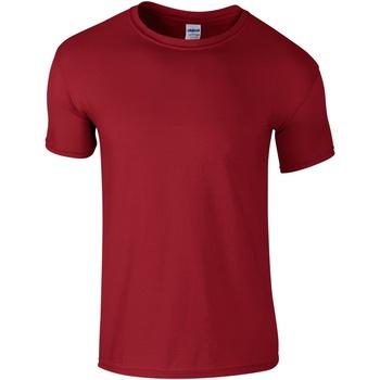 vaatteet Miehet Lyhythihainen t-paita Gildan Soft-Style Cardinal