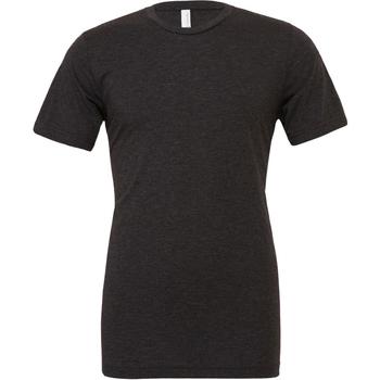 vaatteet Miehet Lyhythihainen t-paita Bella + Canvas CA3413 Charcoal Black Triblend