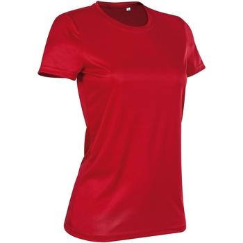 vaatteet Naiset Lyhythihainen t-paita Stedman  Crimson Red