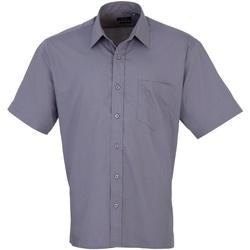 vaatteet Miehet Lyhythihainen paitapusero Premier PR202 Steel