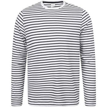 vaatteet T-paidat pitkillä hihoilla Skinni Fit SF204 White/Oxford Navy