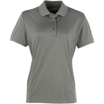 vaatteet Naiset Lyhythihainen poolopaita Premier PR616 Dark Grey