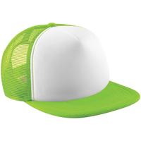 Asusteet / tarvikkeet Lippalakit Beechfield B645 Lime Green/White