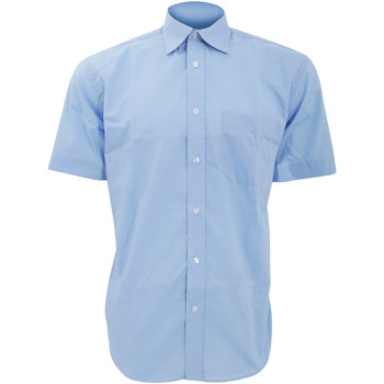 vaatteet Miehet Lyhythihainen paitapusero Kustom Kit KK102 Light Blue