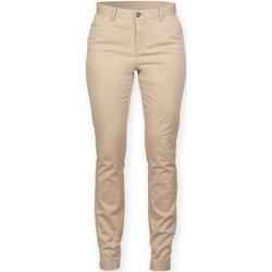 vaatteet Naiset Chino-housut / Porkkanahousut Front Row FR622 Stone